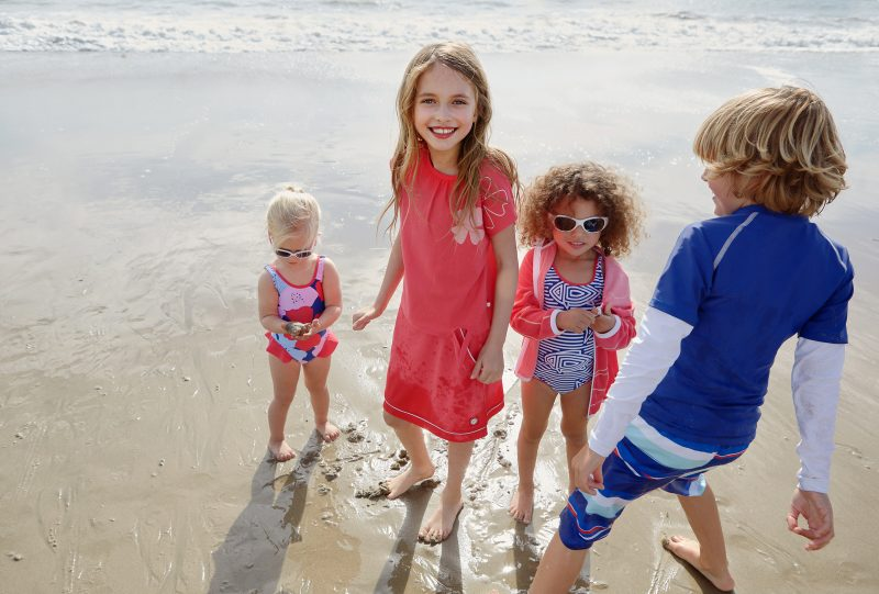 Reima SunProof collection eliminates the need for sun lotion under the clothes.